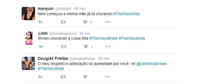 Internautas comentaram a estreia do The Voice Kids nas redes sociais (Foto: Reprodução: Twitter)
