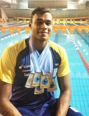 Matheus Santana - natação (Foto: Matheus Santana / Arquivo Pessoal)
