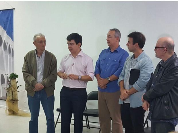 Rede se reúne com candidato Marcelo Freixo para confirmar apoio (Foto: Ari Peixoto/TV Globo)