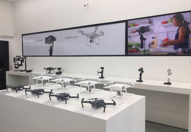 Loja de drones da DJI no BarraShopping (Foto: Divulgação BarraShopping)