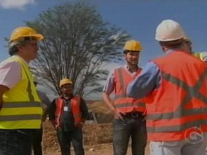 Comitiva alemã visita Araripina, PE (Foto: Reprodução / TV Grande Rio)
