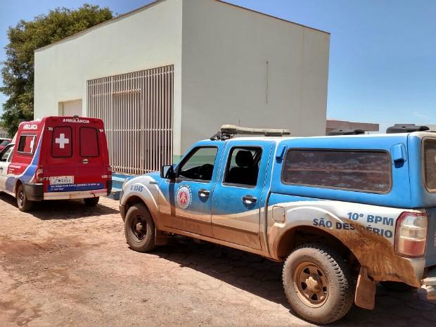 Comerciante foi levado para UPA, mas não resistiu ao ferimento (Foto: Edivaldo Braga/BlogBraga)