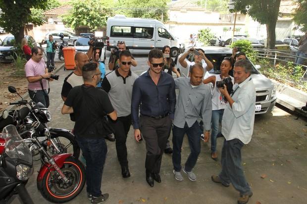 Marcos Harter na delegacia (Foto: Thyago Andrade/Brazil News)