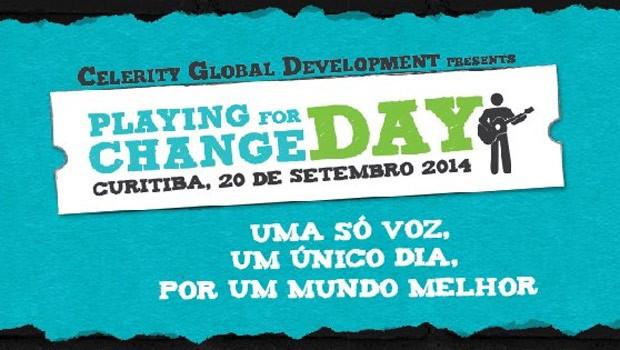 Play For Change vai rolar no sábado, em Curitiba e no mundo! (Foto: Divulgação)