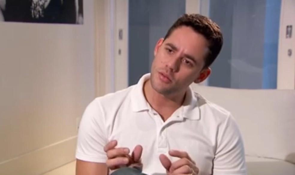 Thiago Pereira em entrevista ao EE (Foto: Reprodução)