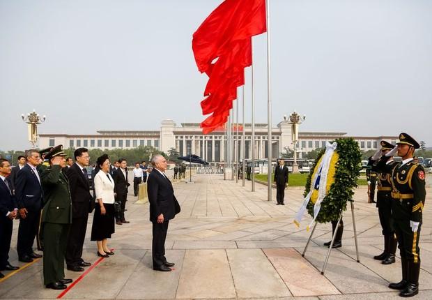 Segundo dia de visita do presidente Michel Temer à China (Foto: Isac Nobrega/PR)