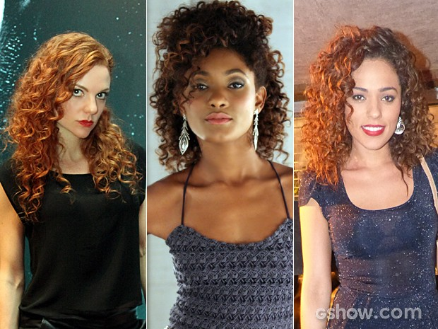Vanessa, Alice e Sandra arrebentaram com seus lindos cachos (Foto: Carol Caminha / Pedro Curi / Em Família / TV Globo)