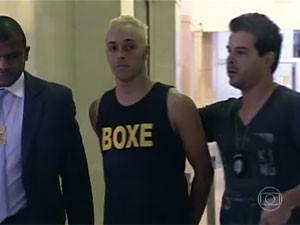 Jonatas Araújo, suspeito da morte de dentista no ABC (Foto: Reprodução/TV Globo)