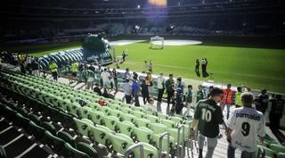 Palmeiras x Atlético PR, Torcida na Arena Palmeiras (Foto: Marcos Ribolli)