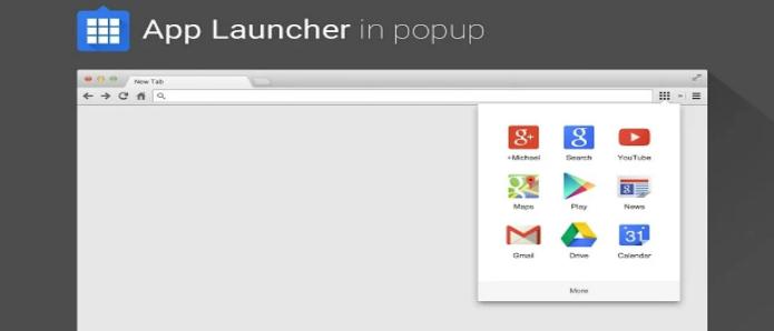 App launcher levar atalhos do google para o navegador