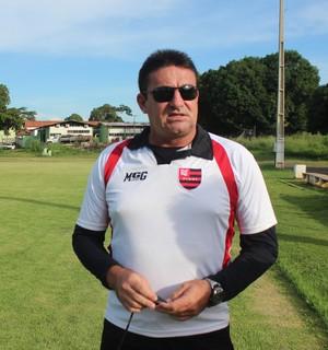 Jorge Pinheiro, treino Flamengo-PI (Foto: Abdias Bideh/GloboEsporte.com)
