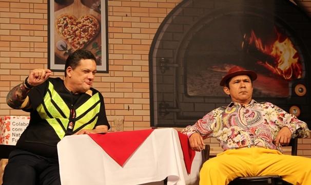 A gaiatice cearense em cartaz no Especial Humor no Ceará. (Foto: Luanna Gondim / TV Verdes Mares)