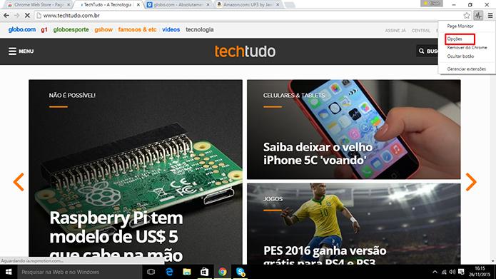 Usuário pode configurar Page Monitor para que ele verifique páginas mais rápido (Foto: Reprodução/Elson de Souza)