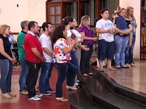 Celebração vítimas acidentes (Foto: Reprodução/TV Tapajós)