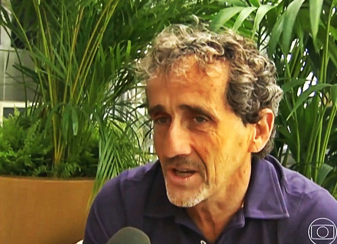 Alain Prost falou da rivalidade com Ayrton Senna (Foto: Reprodução TV Globo)