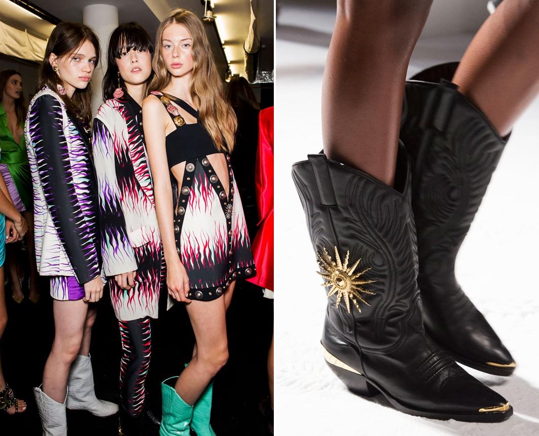 Tendência Texas na semana de moda de Milão (Foto: Editora Globo)
