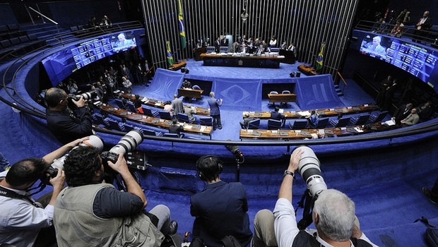 Senado durante votação do 2º turno da PEC do Teto (Foto:  Edilson Rodrigues/Agência Senado )