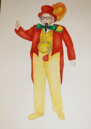 """Croqui do figurino de """"Chacrinha, o Musical"""" (Foto: Divulgação)"""
