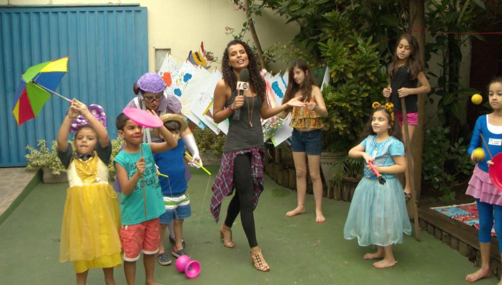 Lorena Fafá vai visitar colônias de férias (Foto: Reprodução / TV Gazeta ES)