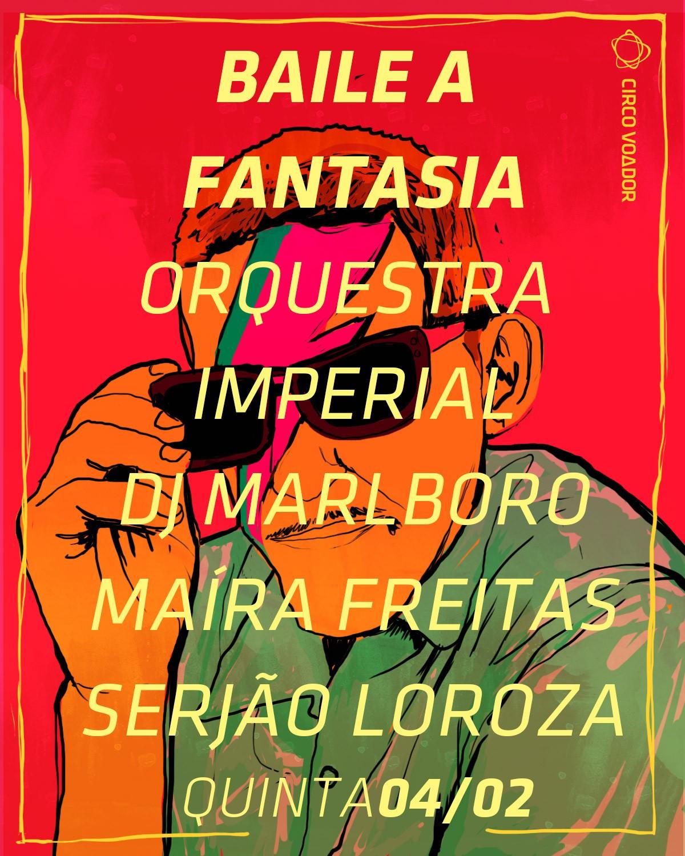 Cartaz da Orquestra Imperial feito pelo Circo Voador