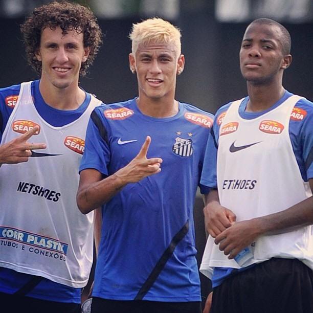 Galhardo, Neymar e Victor Andrade (Foto: Reprodução / Instagram)