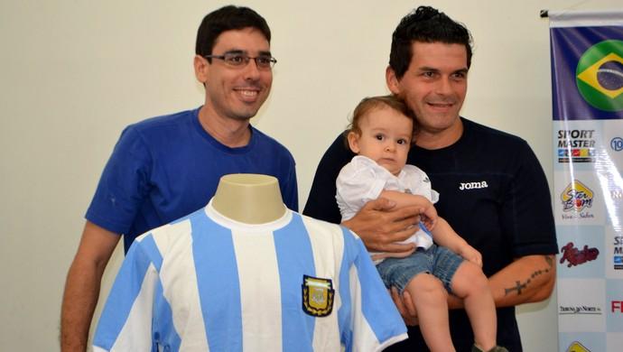 Brasil x Argentina - Stephano Vanderlei Barbosa, paraibano e torcedor da Argentina - Mancuso (Foto: Jocaff Souza/GloboEsporte.com)