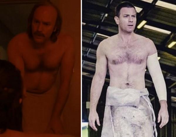 O ator Ewan McGregor em cenas de Fargo e Trainspotting 2 (Foto: Reprodução)