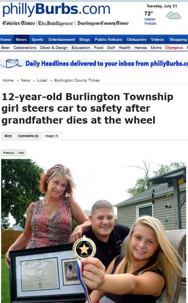 Miranda conseguiu parar a caminhonete dirigida por seu avô após ele morrer ao volante (Foto: Reprodução)