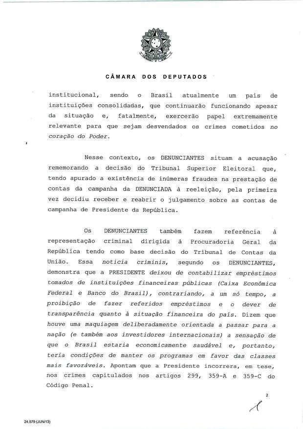 2 - Leia íntegra da decisão de Cunha que abriu processo de impeachment (Foto: Reprodução)