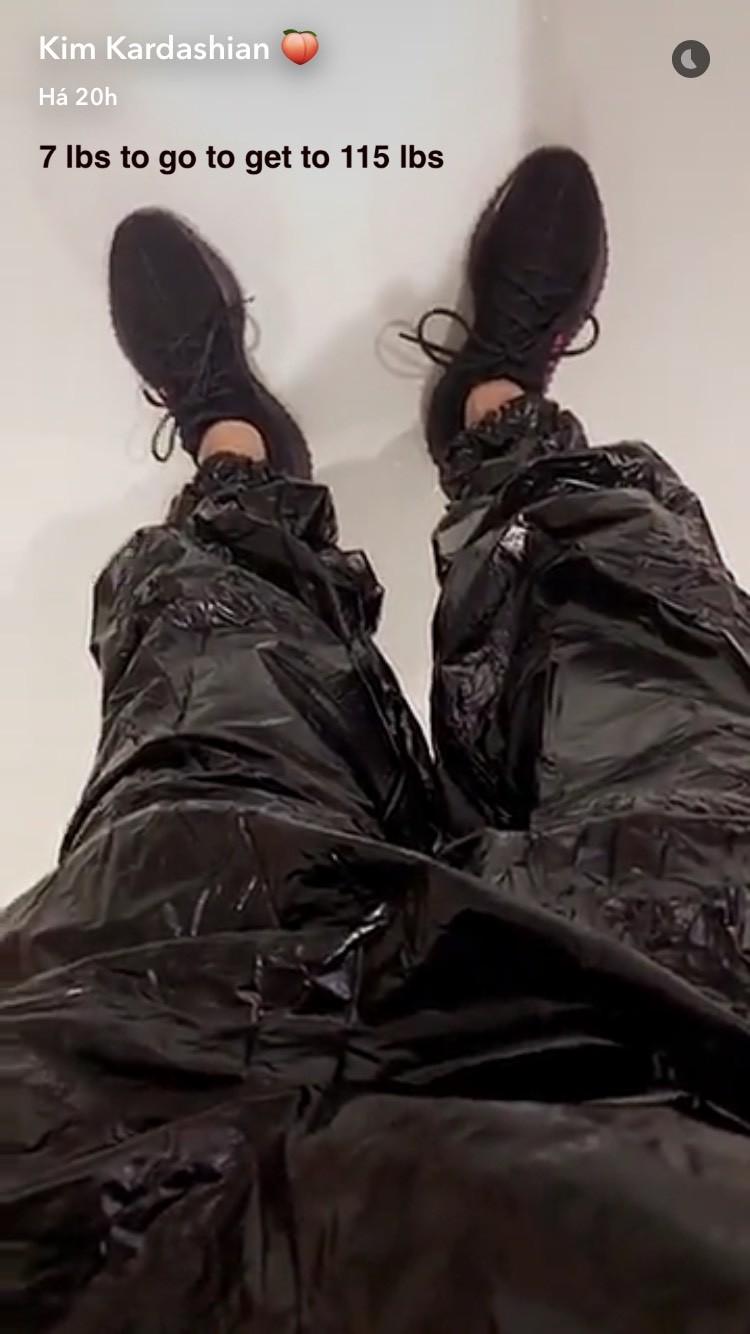 Kim Kardashian no Snapchat (Foto: Reprodução)