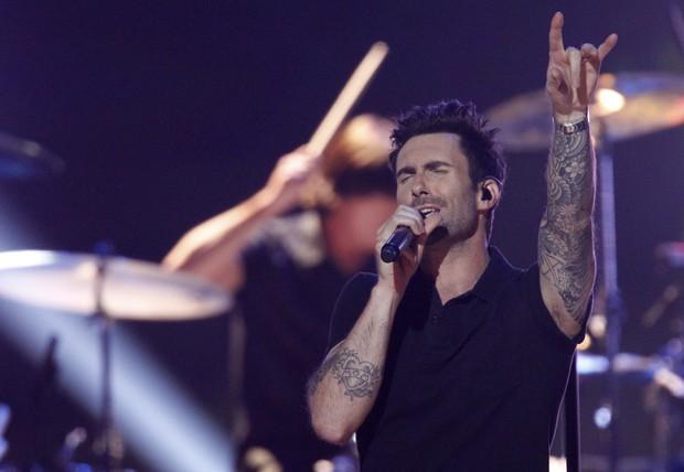 Maroon 5 se apresenta em evento do Grammy em Nashville, nos Estados Unidos (Foto: Harrison McClary/ Reuters/ Agência)