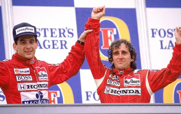 Senna e Prost GP de Adelaide 1998  (Foto: Getty Images)