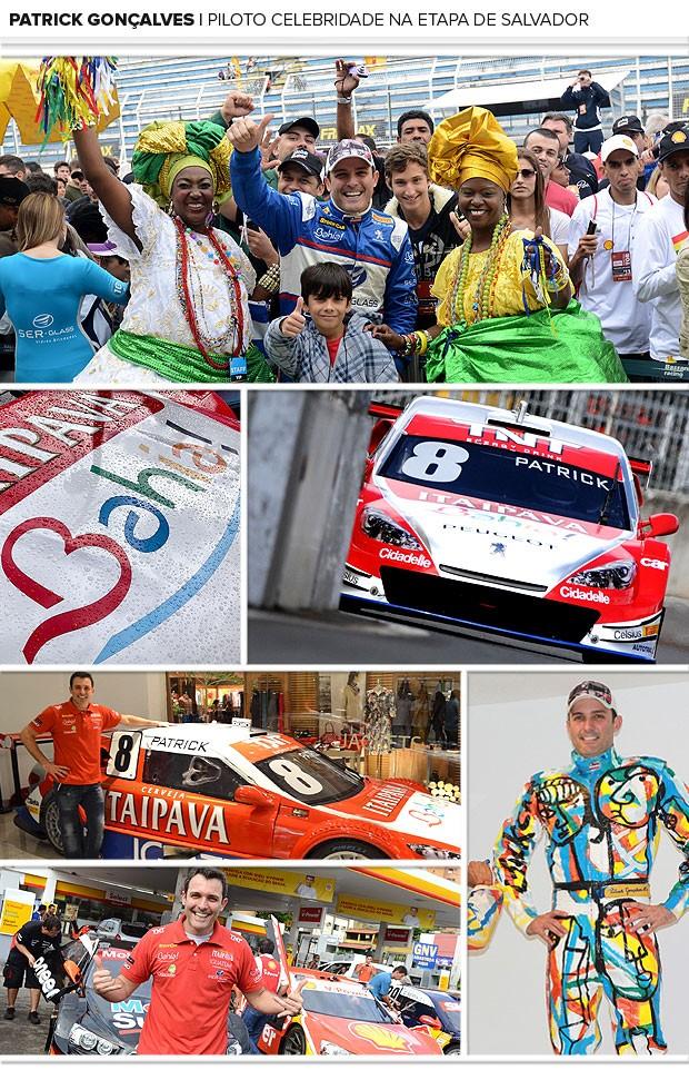 mosaico Stock Car Patrick Gonçalves (Foto: Divulgação)