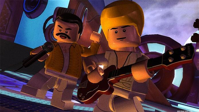 Lego Rock Band tinha até Freddie Mercury (Foto: Divulgação)