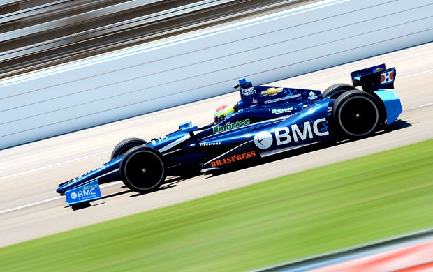 Rubens Barrichello no treino da Indy no Texas (Foto: Getty Images)