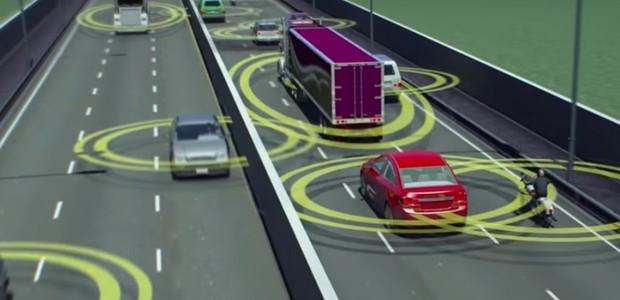Comunicação entre veículos (Foto: Reprodução/Youtube)
