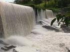 Com chuvas, água volta a cobrir paredão de antiga usina em Varginha