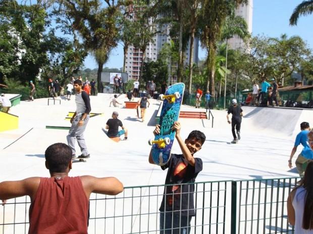 Pista de skate foi inaugurada em Santos, no litoral de São Paulo (Foto: Divulgação / Prefeitura de Santos)