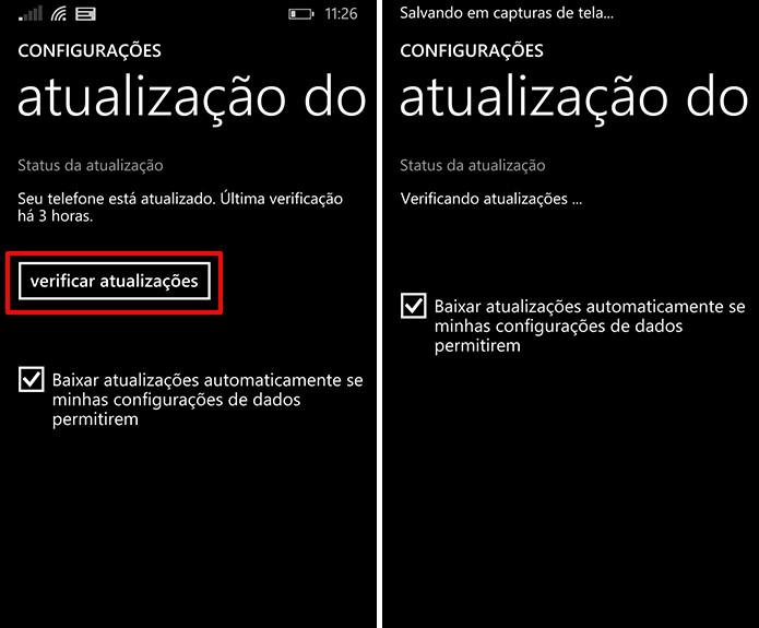 Windows Phone procurará pelo update e baixará o Lumia Denim se estiver disponível (Foto: Divulgação/Windows Phone Store)