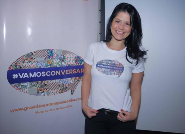 Samara Felippo é a madrinha da campanha 'Vamos Conversar' (Foto: Divulgação)