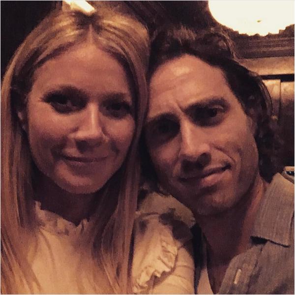 A atriz Gwyneth Paltrow e o namorado, o produtor Brad Falchuk (Foto: Instagram)