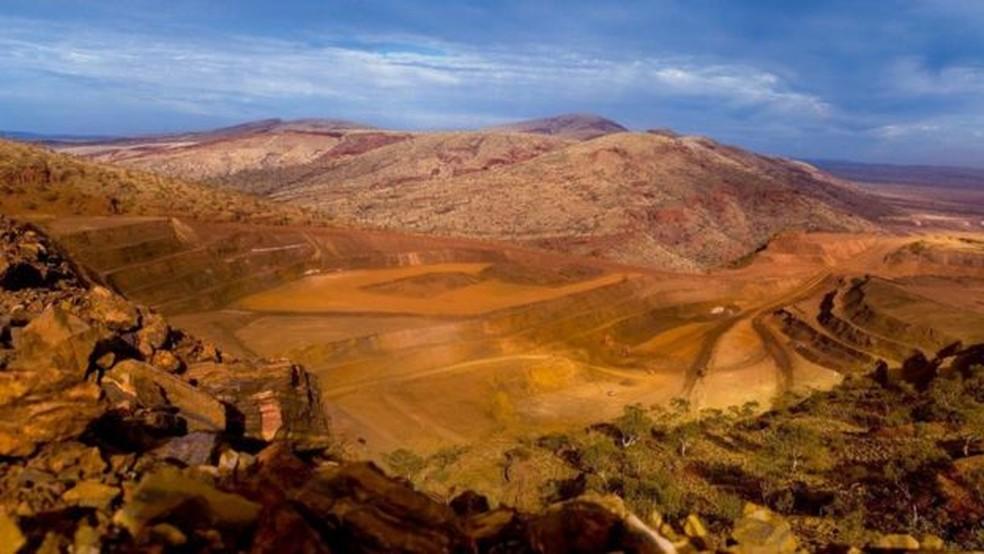A pedra vem de uma mina a céu aberto no noroeste de Austrália (Foto: Rio Tinto)