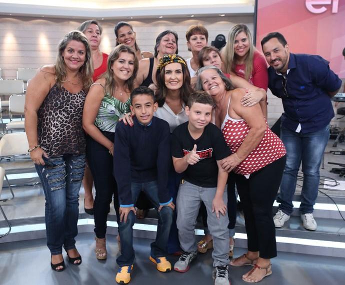 Plateia do programa com a Fátima nos bastidores  (Foto: Fabiano Battaglin/Gshow)