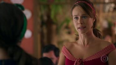 Tancinha não gosta de saber que Apolo levou Tamara para viajar
