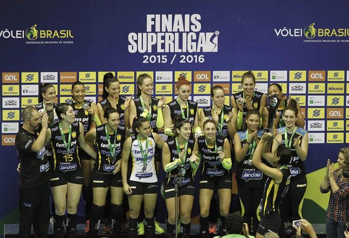 Praia Clube, premiação, Superliga Feminina (Foto: Divulgação/CBV)