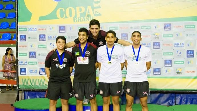 Sergipanos faturam 20 medalhas na Copa Brasil de Tênis de Mesa (Foto: Christian Martinez/CBTM)