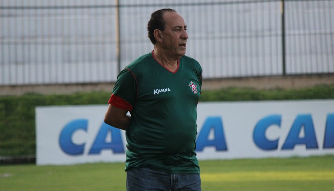 Nedo Xavier - técnico do Boa Esporte (Foto: Augusto Gomes/GloboEsporte.com)