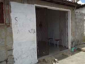 Casa de onde mãe e filho foram levados (Foto: (Foto: Rafael Barbosa/G1))