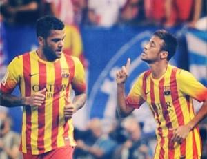 Neymar e Daniel Alves Barcelona (Foto: Reprodução / Instagram)
