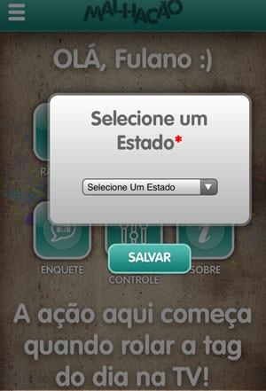 Escolha seu estado (Foto: Malhação / TV Globo)